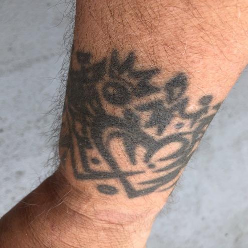 Wrist tattoo by Owen Connell, Seattle artist