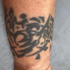 Owen Connell wrist tattoo